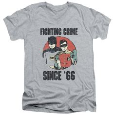 Batman Classic Tv - Since 66 Short Sleeve Adult V Neck