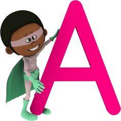 Superhero alphabet clipart for teachers