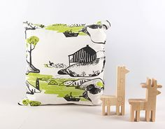 """Ornament """"the Shores"""" was developed for Studio Elnik, a collective image of the Russian North. Textile Fabrics, New Work, Diaper Bag, Coast, Throw Pillows, Gallery, Artist, Behance, Bags"""