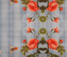 spring roses fabric by nascustomwallcoverings on Spoonflower - custom fabric