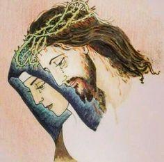 Jesus Our Savior, Jesus Is Life, God Jesus, Catholic Prayers, Catholic Art, Religious Art, Spiritual Pictures, Jesus E Maria, Pictures Of Jesus Christ