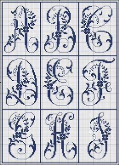 Free Easy Cross, Pattern Maker, PCStitch Charts + Free Historic Old Pattern Books: Sajou No 321 Easy Cross, Simple Cross Stitch, Cross Stitch Flowers, Cross Stitch Charts, Cross Stitch Designs, Stitch Patterns, Embroidery Alphabet, Embroidery Monogram, Cross Stitching