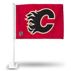 Calgary Flames Athletic Logo Car Flag from Team Sports Gift. Click now to shop  NHL Game Day Automotive Accessories. 34bcdad41