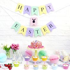 Personalised Easter Party Bunting - easter home