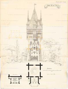 Aussichtsturm. Monatskonkurrenz August 1869 | unbek. Architekt