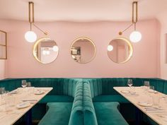 When planning a trip to London, one might include a visit to Big Ben, a trip to Buckingham Palace, perhaps a stop by Yotam Ottolenghi's namesake restaurant, and if you're a design/foodie buff, a stopover at Sketch London, the India Mahdavi-designed restaurant known for it's all-pink interiors. But now, North Audley Cantine [NAC] in Mayfair, is high on the Instagram set's bucket list. Thanks to its pastel pink walls with pops of emerald gr...