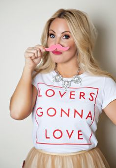 Valentine photo shoot featuring special edition Valentines Day Lovers Gonna Love tee shirt for womens and kids from The Light Blonde available at www.thelightblonde.com