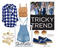 Shortalls Tricky trend by sahni-leila on Polyvore featuring Rails, Zara, Kenzo, The Sak, Bling Jewelry, River Island, Dogeared, Forever 21, TrickyTrend and Spring