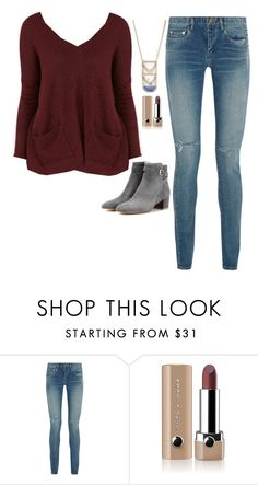 """""""Iris West Inspired Outfit"""" by daniellakresovic ❤ liked on Polyvore featuring BDG, Yves Saint Laurent, Marc Jacobs and Gianvito Rossi"""