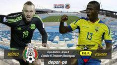 México y Ecuador van por los cuartos de final. June 19, 2015.