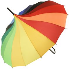 Lindy Lou Pagoda Umbrella - Rainbow - Brolliesgalore