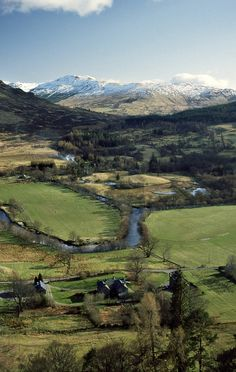 View over Balquhidder Glen from Creag an Tuirc, clan rallying place.