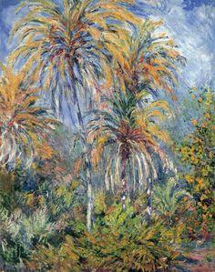Les Palmiers à Bordighera Claude Monet, 1884