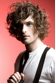 Medium Hairstyles For Men With Curly Hair