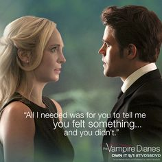 "The Vampire Diaries season 6 Caroline & Stefan ""All I needed was for you to tell me you felt something. and you didn't. Vampire Diaries Wallpaper, The Vampire Diaries 3, Vampire Diaries Seasons, Vampire Diaries Quotes, Vampire Diaries The Originals, Vampire Quotes, Tvd Quotes, Tv Show Quotes, Book Quotes"