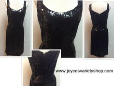 Nite Dress Line Black Full Sequin Party Holiday