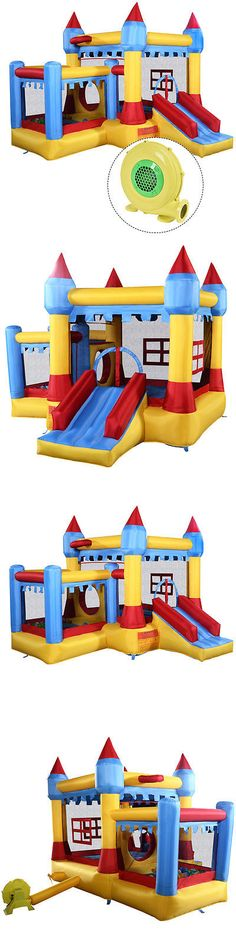 Inflatable Bouncers 145979: Inflatable Bounce House Castle Commercial Kids Jumper Moonwalk With Ballandblower -> BUY IT NOW ONLY: $279.99 on eBay!