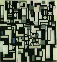 Theo van Doesburg, Compositie IX, 1917 - 1918, olieverf op doek, 116 x 106 cm, Gemeentemuseum Den Haag