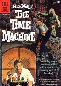 Time was that every major SF movie was prereleased in comic book form. This continued at least through the '60s. This one, The Time Machine starring Rod Taylor, came out in 1960 -- before Dell raised its prices to a forbidding 15 cents.