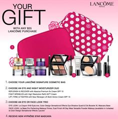 Free Lancôme gift @ Dillards. Giftset includes 7 items ...