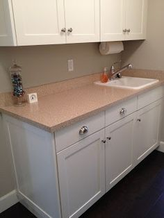 //www.peahenpad.com/2013/02/new-kitchen-counters.html Formica ... on grey marble, granite countertops, grey stone countertops, quartz countertops, white countertops, grey quartz, grey corian, grey black countertops, grey bathroom countertops, grey crushed granite, lowe's bathroom cabinets and countertops, grey limestone countertops, grey wood countertops, grey samples, grey obsidian countertops, gray marble countertops, grey leather granite, home depot formica countertops, slate countertops, grey ceramic countertops,