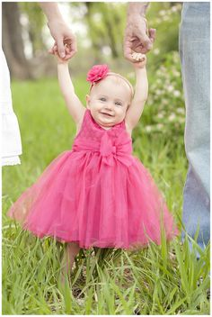 1 Year Session - Boulder, Colorado Children Photographer - Pink