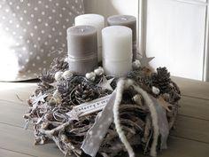 Christmas Art, Christmas Wreaths, Christmas Decorations, Xmas, Holiday Decor, Grey Candles, Centerpieces, Big Big, Cards
