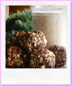 To use up leftover hazelnut pulp from hazelnut milk:  Hazelnut Truffles
