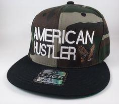 American Hustler Snapback Cap. Flat Bill Hat. by ChrisHouseofStyle Flat  Bill Hats b494d9f630e