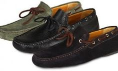 Men's Leather or Suede Moccasins £39.98 56% OFF #shoes #fashion