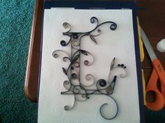 """Personalized Quilled Letter 8x10 by shannaeaton on Etsy, $30.00-Shanna made a """"G"""" for me and it is just gorgeous!"""