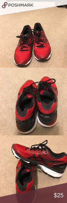 Asics men Asics men sneakers Gel-nimbus 18  red and black size 9  . Great shoe. Asics Shoes Sneakers