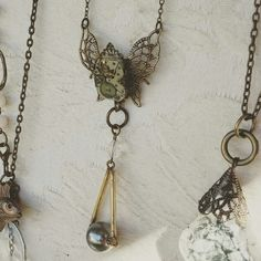 #Steampunk #Wanderlust #travel inspired #Necklace made with #reclaimed #vintage jeweled #watchmovement