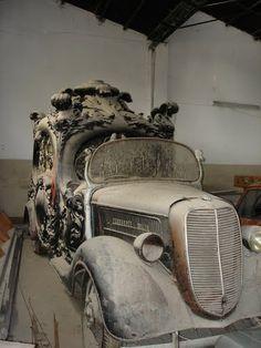 Vintage hearse