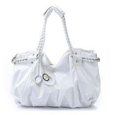 JSR Elegant Lady Shoulder Bag - White [010465] - $34.00