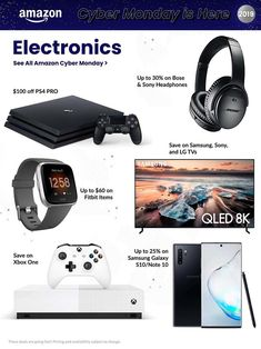 Amazon Cyber Monday Ad Scan, Deals and Sales 2019 The Amazon 2019 Cyber Monday ad is here! Be sure to subscribe to our newsletter to receive emails about all the latest Cyber Monday news and ad leaks ... #cybermonday #amazon Cyber Monday Ads, Monday News, Xbox One S 1tb, Amazon Black Friday, Ring Video Doorbell, Lg Tvs, Tablet 10, Samsung Galaxy, House