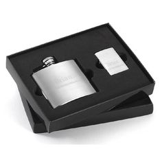 Personalized Flask and Zippo Lighter Set