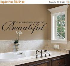 High Quality Bathroom Decor   Bathroom Wall Decal   Beautiful   Be You Tiful   Bathroom  Art   Bathroom Sign