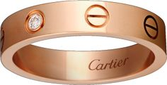 <span class='lovefont'>A </span> wedding band, 1 diamond Pink gold…