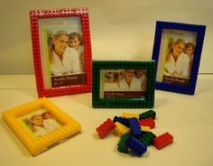 Lego picture frames. Looks like an easy DIY project!