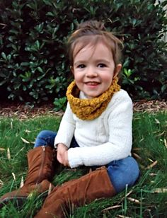 Toddler Infinity Cowl Scarf Organic Cotton Crochet by TayuhTate