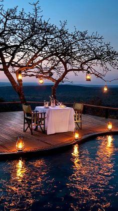 Bello paisaje romantico