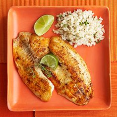 Rub white fish fillets with oil and chile pepper, then saute a few minutes on high heat for a super fast and healthy dinner.