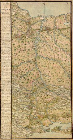 Istmo de Tehuantepec, desde Oaxaca hasta Veracruz (1774). Crame. Istmo de Tehuantepec y Curso del Rio de Goazacoalcos, 1774.