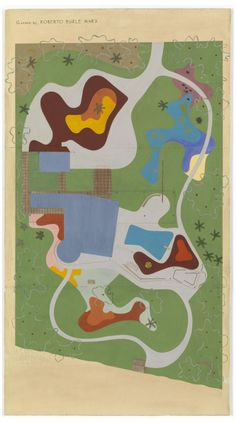 Roberto Burle Marx, Garden Design for Beach House for Mr. and Mrs. Burton Tremaine, project, Santa Barbara, California, Site plan 1948