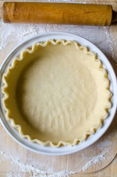Quick and easy food processor method makes perfect pie crust every time!