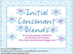 This package contains sorting cards and activities for your kiddos to practice inital blends. ...
