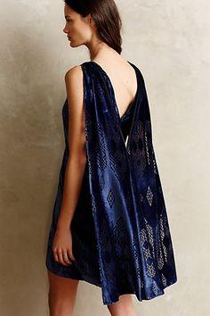 cerulean velvet dress.