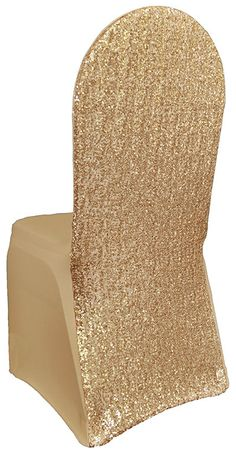 2 Sequin Chair Covers Spandex Tight Fitting Chair by SparkleSoiree