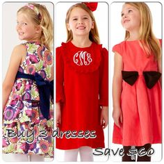 Shop with me and save big! Sept 6-8 only! Buy 3 Kelly's Kids Caroline Classic dresses and get $60 off your total order. Would be like buying 2 dresses and getting the 3rd free! www.kellyskids.com/michellethompson and enter party# 17241